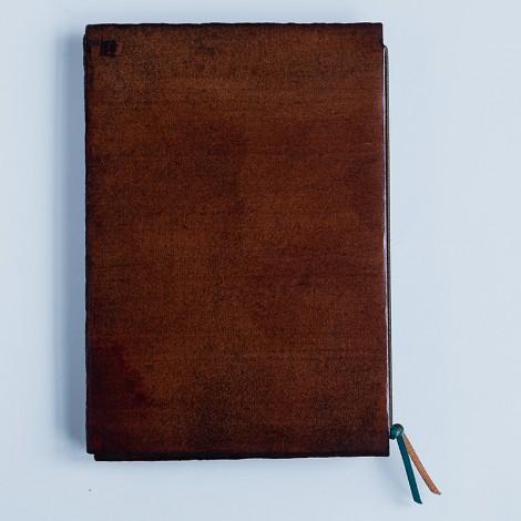 notebook, medium A5, brown