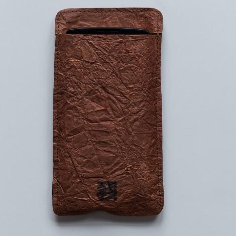 etui na smartfon, brązowe, małe