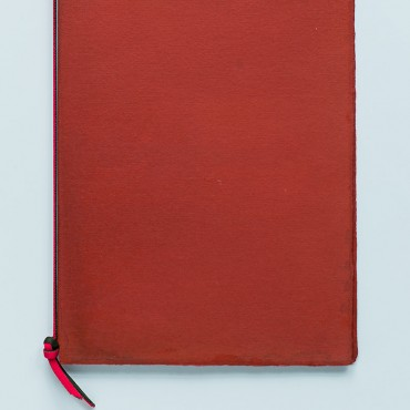notebook, medium A5, red