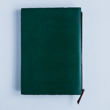 notebook, medium A5, green